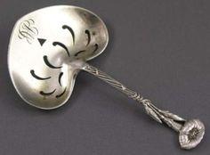 Tiffany Heart Shaped Sterling Bon Bon Spoon