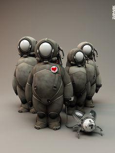Fantasy | Whimsical | Strange | Mythical | Creative | Creatures | Dolls | Sculptures | Templier3 - Olivier Bucheron -