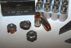 Speer Gold Dot .40 S ---> Read more http://mygunculture.com/2013/02/08/ammo-review-speer-gold-dot-40-sw-180-grain-hollow-point/