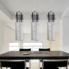Deluxe Pendant Lights with K9 Crystal with 3 Lights