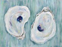 iridescent summer color palette | Oyster Painting