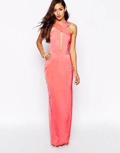 Enlarge AQ AQ Crusher Wrap Front Maxi Dress