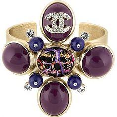 Chanel Purple Cross Bracelet