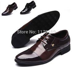 Nova moda dos homens de negócios sapatos de couro lace up oxfords sola de borracha sapatos de festa de Casamento Formal frete grátis xz185