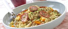 Yum Yum Chicken, Fried Rice, Risotto, Turkey, Beef, Dinner, Healthy, Ethnic Recipes, Food
