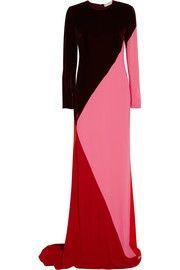 Stella McCartneyAntonia color-block velvet and crepe gown