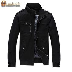 Men's Cotton Stand Collar Fashion Casual Outerwear Jacket