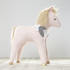 Shop Plush Unicorn Ride On Toy. Pet unicorns are a lot easier to take care of than you'd think. They don't need food, water or walks, just lots of imaginary rides and make-believe sugar cubes.