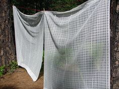 Vintage Modern Net Curtain Panels Very by NopalitoVintageMore, $60.00