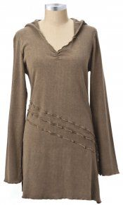 Earth Creations - Marina Tunic   (in a different color for me!) looks super relaxed & comfortable to wear with leggings