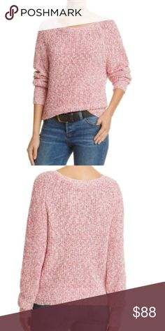 Free People Women's Pink Pullover Sweater Stylish super comfy pullover Free People Pink Sweater is a perfect choice for effortless style. 55% Cotton/ 36% linen/ 9% nylon. Great sweater for year round wearing. New with tags. Free People Sweaters