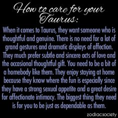 Caring for a Taurus