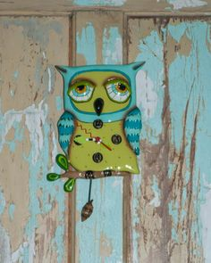 Sleepy Blue Owl <br /> Allen Design Clock, Whip City Candle Company