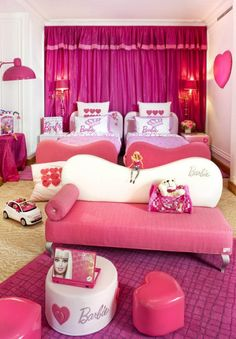 Beautiful Pink Barbie Bedroom Design and Decorations Picture Ideas   Barbie Brand . Barbie Bedroom Decor. Home Design Ideas