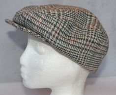 Vintage Gray Plaid Newsboy or Golf Style Hat, Style Club Charter Member, 1970's Era by ilovevintagestuff on Etsy