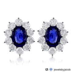 Find Beautiful Jewelry with Colorful Gemstones, like these Exquisite Lady Diana Sapphire Earrings from Jewels by Jacob at Michael Herr! .  .  .  #StLouis #STL #JewelsbyJacob #GemStone #Love #Diamond #Diamonds #Earrings #Sapphire #EarringLove #WhiteGold #Gold #SapphireEarrings #Wedding #WeddingSet #BridalSet #BridalJewelry #LuxuryJewelry #Bride #Jewelry #JewelryGram  #MichaelHerrJewelry #FineJewelry #IGJewelry