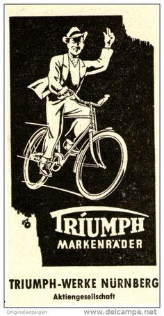 Original-Werbung/ Anzeige 1952 - TRIUMPH MARKENRÄDER - ca. 45 x 80 mm