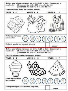 34 Ejercicios de monedas y billetes - Educación Preescolar ...