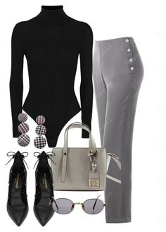 """office"" by camilae97 ❤ liked on Polyvore featuring Alaïa, Yves Saint Laurent and Jean-Paul Gaultier"