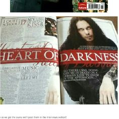 More scans from the November issue of METAL HAMMER Magazine featuring HIM. From what I've read, this may not hit the US for another month, but you may be able to find it in UK. Check for it!   Credit to The Bleeding Hearts Chicago Street Team for the scans.