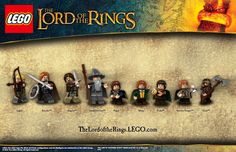 LEGO Lord of the Rings sets are creeping closer and closer toward a reality. The latest announcement from the popular European construction toy features the Minifig population of Middle-Earth, with everyone's favorite hobbits, wizards, dwarves, nazgul, elves, orcs, uruk-hai, and humans.