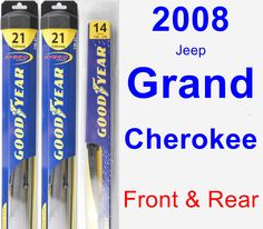 Front & Rear Wiper Blade Pack for 2008 Jeep Grand Cherokee - Hybrid