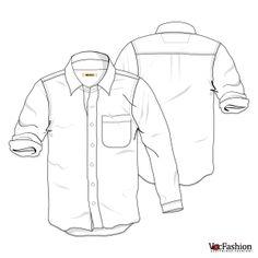 Men's White Cotton Shirt Vector Template