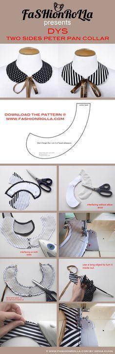 FaSHionRoLLa- Designer's fashion blog: DIY: two sides peter pan collar...