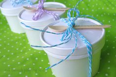 WhiTE IcE CReaM or SouP CuPS with Vented Paper Lids--8oz--ice cream socials--parties--weddings gifts 10ct. $7.95, via Etsy.