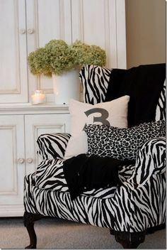 sassy zebra chair   repinned by www.imagine.willowhouse.com