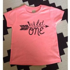 The perfect shirt for your little Wild One on their First Birthday! Pair with Moccs and Leggings and youll have one styling baby! Screen-print