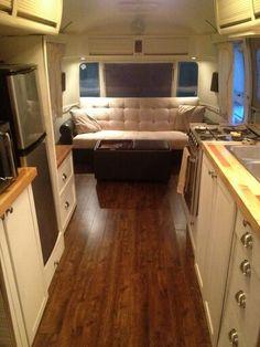 Gypsy Interior Design-Dress My Wagon  Serafini Amelia  Travel Trailer-Interior Design Inspiration  Butcher blotch countertops