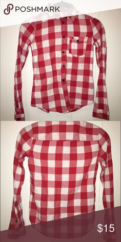 Abercrombie Kids flannel Red and white stripes abercrombie kids Shirts & Tops
