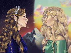 Feyre and Aelin Throne Of Glass Fanart, Throne Of Glass Books, Throne Of Glass Series, A Court Of Wings And Ruin, A Court Of Mist And Fury, Aelin Ashryver Galathynius, Crown Of Midnight, Empire Of Storms, Sarah J Maas Books