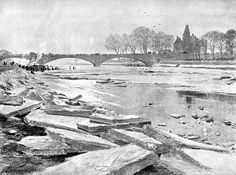 River Trent during the Great Frost (16th February 1896)