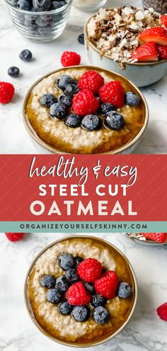 Healthy Steel Cut Oats Recipe | Healthy Meal Prep - Looking for a wholesome bowl of hearty oatmeal drizzled with maple syrup and sprinkled with nuts to make your morning perfect? Today, I'm going to share my foolproof recipe and tips for making the perfect pot of creamy, yet never mushy, steel-cut oats. Organize Yourself Skinny | Healthy Oatmeal Recipes | Meal Prep for Beginners | Healthy Eating for Weight Loss #healthybreakfast #oatmeal #steelcutoats #mealprep #weightloss