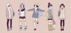 chica tumblr pensando dibujo anime - Buscar con Google