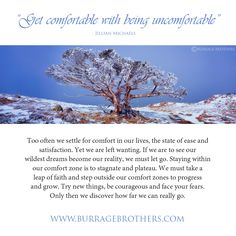 """Tree of Ice""  ""Get comfortable with being uncomfortable"" - Jillian Michaels.   We all need a push sometimes. Share with someone who needs this advice right now!"