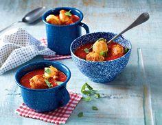 Unser beliebtes Rezept für Gebratene Käseklößchen in Tomatensuppe und mehr als 55.000 weitere kostenlose Rezepte auf LECKER.de.