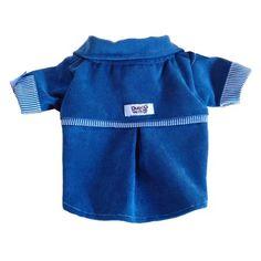 Camisa para Cachorro Veludo Cotelê Azul Macho Dudog Vest - MeuAmigoPet.com.br #petshop #cachorro #cão #meuamigopet