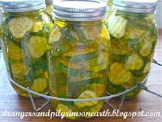 Strangers & Pilgrims on Earth: Canning Bread & Butter Pickles the Easy Way (and labels)