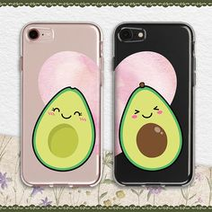 iphone case heart phone case avocado iphone case couple phone case funny cute couple case smile vege Handyhüllen Your place to buy and sell all things handmade