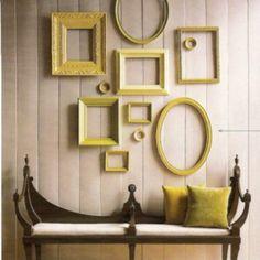 Frame Art Wall Empty Frames As Interior Decor And Design