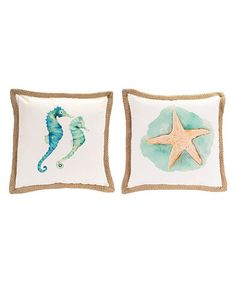 Another great find on #zulily! Seahorse & Starfish Throw Pillow Set #zulilyfinds