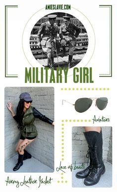 Military girl DIY Halloween costume