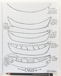 Drawing tutorial how to draw a canoe
