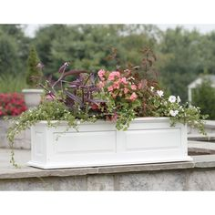 Rectangle Wood Raised-panel Savannah Window Box