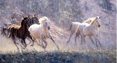 'Stampede' - Oil on Canvas by Robert Hagan by robert-hagan on DeviantArt Australian Painters, Australian Artists, Happy Paintings, Beautiful Paintings, Horse Paintings, Animal Paintings, Art Occidental, Desert Art, Equine Art