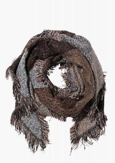 Marjorie Fringe Scarf in Beige   Necessary Clothing