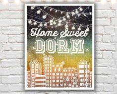Home Sweet Dorm - PAPER PRINT, typographic print, graduation gift, dorm decor, college decor, college student gift